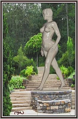 Statue Portrait Digital Art - Walking Statue 1ws1 by Pemaro