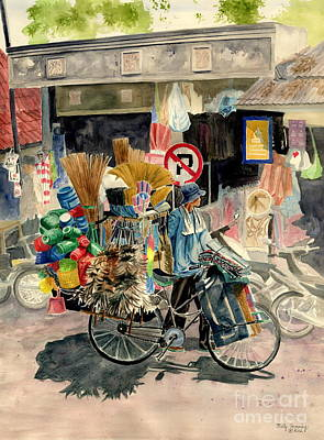 Asian Painting - Walking Store by Melly Terpening