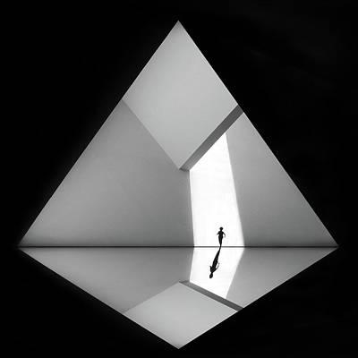 Figures Wall Art - Photograph - Walking The Diamond # 03 by Huib Limberg