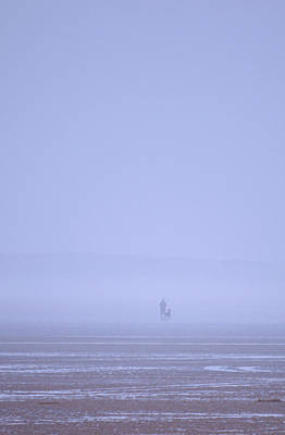 Walking The Dog In The Mist Art Print by Spikey Mouse Photography