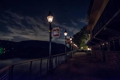 Gas Lamp Photograph - Walking The Path by Ryan Crane