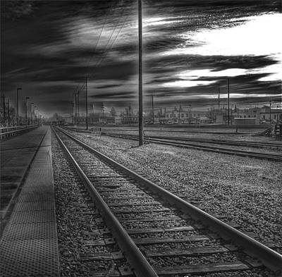 Photograph - Walking The Rails by Bill Owen
