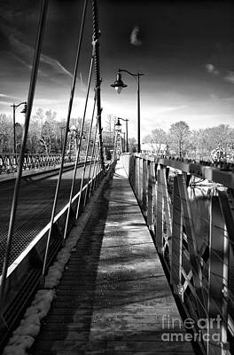 Photograph - Walking The Riegelsville Bridge by John Rizzuto