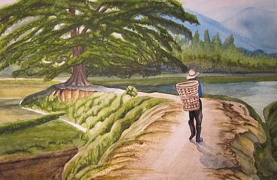 Painting - Walking The Road by Teresa Beyer