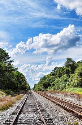 Photograph - Walking The Tracks by Jan Amiss Photography