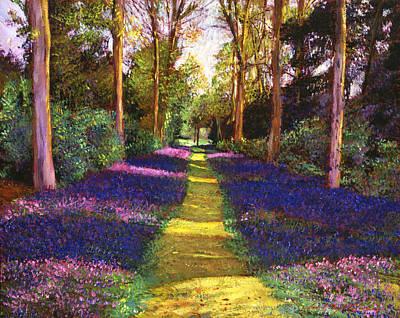 Lavendar Painting - Walking Through Blue by David Lloyd Glover