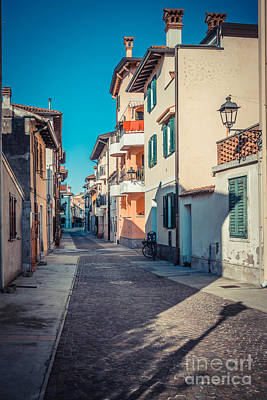 walking through Grado - through the past Art Print