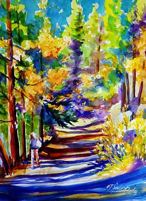 Painting - Walking Through Shadows  by Therese Fowler-Bailey