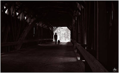 Photograph - Walking Through The Covered Bridge by Wayne King