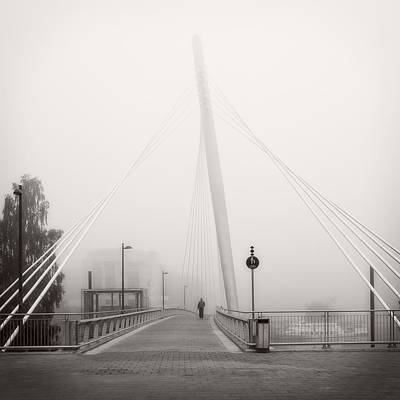 Print featuring the photograph Walking Through The Mist by Ari Salmela