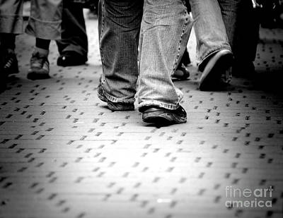 Crowd Photograph - Walking Through The Street by Michal Bednarek