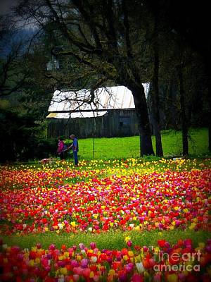 Photograph - Walking Through Tulips by Susan Garren