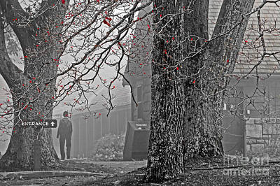 Photograph - Walking Thru The Fog by Dawn Gari