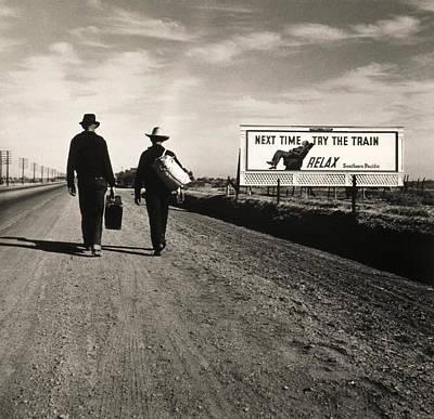 Walking To Los Angeles Art Print by Dorothea Lange