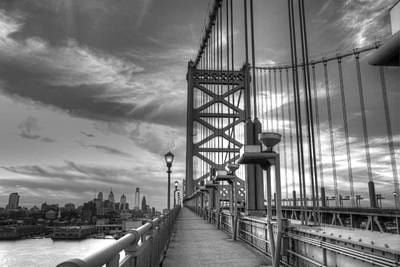 Black And White Photograph - Walking To Philadelphia by Jennifer Ancker