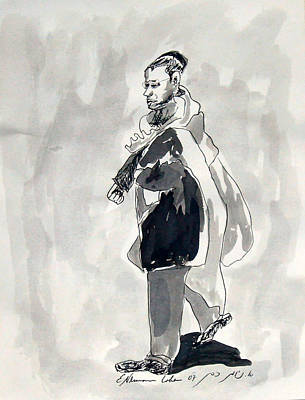 Walking To Shul Original by Esther Newman-Cohen