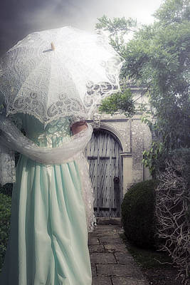 Shawl Photograph - Walking To The Gate by Joana Kruse