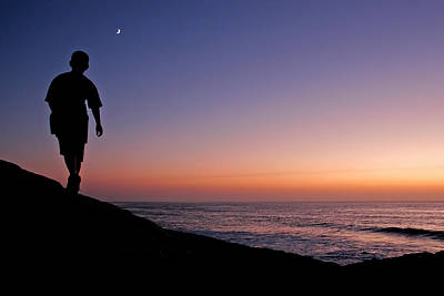 La Jolla Cove Photograph - Walking To The Moon by Peter Tellone