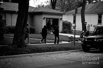 Frank J Casella Royalty-Free and Rights-Managed Images - Family Out For A Walk  by Frank J Casella
