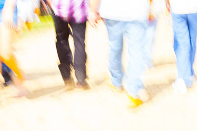 Impressionism Photos - Walking Together by Karol Livote