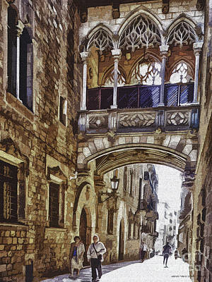Walking Trhough History Art Print by Pedro L Gili