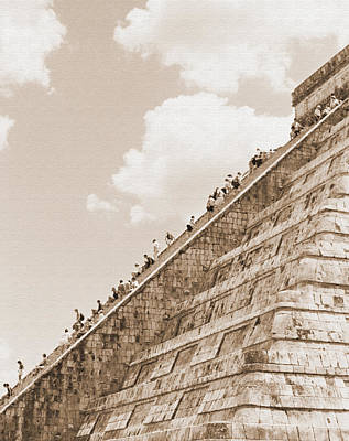 Walking Up The Pyramid Art Print