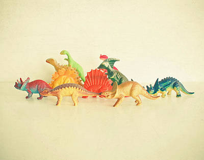 Kids Art Photograph - Walking With Dinosaurs by Cassia Beck