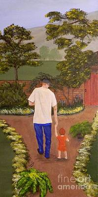 Walking With Papa Art Print