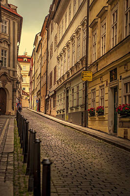 Old Prague Photograph - Walks Along The Old Streets Of Prague by Jenny Rainbow