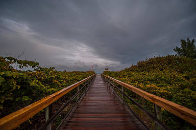 Photograph - Walkway In The Rain by Paul Johnson