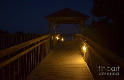 Photograph - Walkway Lighting by Bob Sample