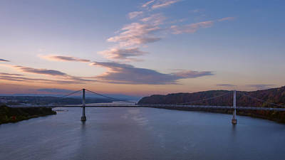 Lady Bug - Walkway Over The Hudson Dawn by Joan Carroll