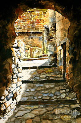 Wall Art - Painting - Walkway by Paula Marsh