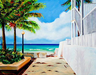 Walkway To Cuba Art Print