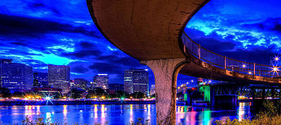 Photograph - Walkway To Morrison Bridge Pdx by Thom Zehrfeld