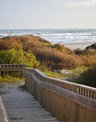 Photograph - Walkway To The Beach by Allen Sheffield
