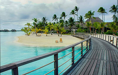 Photograph - Walkway To The Beach In Bora Bora by Gary Slawsky