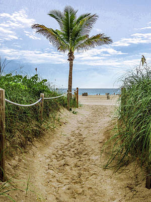 Cloudscape Photograph - Walkway To The Beach by Zina Stromberg