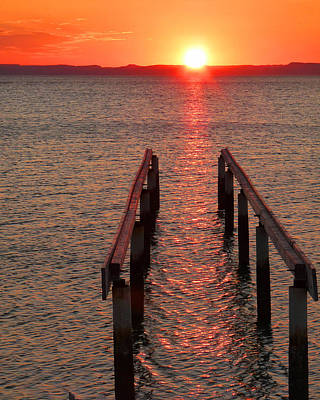 Art Print featuring the photograph Walkway To The Sun by Alan Socolik