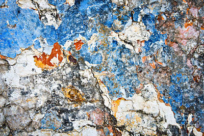 Chipping Paint Photograph - Wall 2 by Delphimages Photo Creations