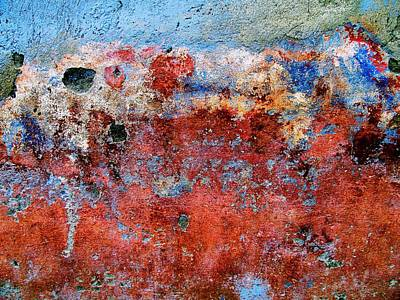 Art Print featuring the digital art Wall Abstract 17 by Maria Huntley