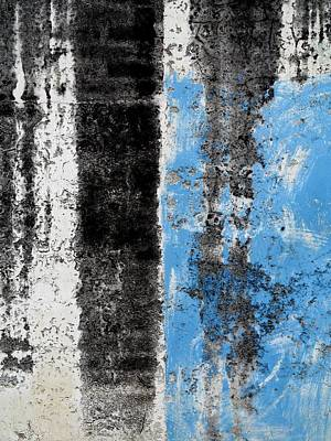 Art Print featuring the digital art Wall Abstract 34 by Maria Huntley