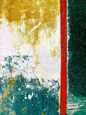 Art Print featuring the digital art Wall Abstract 71 by Maria Huntley