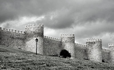Photograph - Wall Against Clouds by Lorraine Devon Wilke