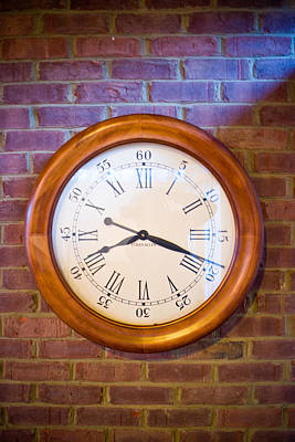 Wall Clock 1 Print by Douglas Barnett