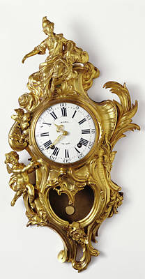 Martini Drawing - Wall Clock Case Maker Jacques Caffieri, French, 1678 - by Litz Collection