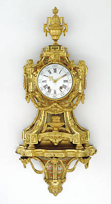 Carcass Painting - Wall Clock On Bracket Case By Antoine Foullet, French, 1710 by Litz Collection