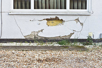 Buidling Photograph - Wall Damage by Tom Gowanlock