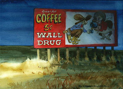 Dakota Painting - Wall Drug Landscape Vii by Marguerite Chadwick-Juner