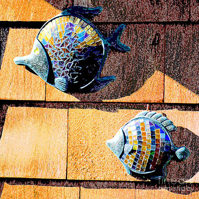 Ceramic Fish Photograph - Wall Fish by Flamingo Graphix John Ellis